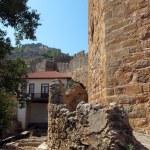 Castle walls Alanya, Turkey — Stock Photo