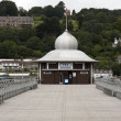 Tea Rooms on Bangor pier, North Wales - Stock Photo