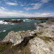 Rocky coastline, Trearrdur Bay, Anglesey — Stock Photo
