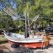 Fishing boat on beach, Tap Sakae, Thailand — Stok Fotoğraf #8304275