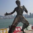 图库照片: Statue of Bruce Lee, Waterfront, Hong Kong