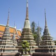 Stupas, Wat Pho, Bangkok, Thailand — Stock Photo