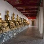 Buddha Statues, Wat Pho, Bangkok, Thailand — Stock Photo
