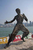Statue de bruce lee, de front de mer, de hong kong — Photo