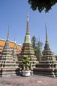 Stupas, Wat Pho, Bangkok, Thailand — Stock Photo
