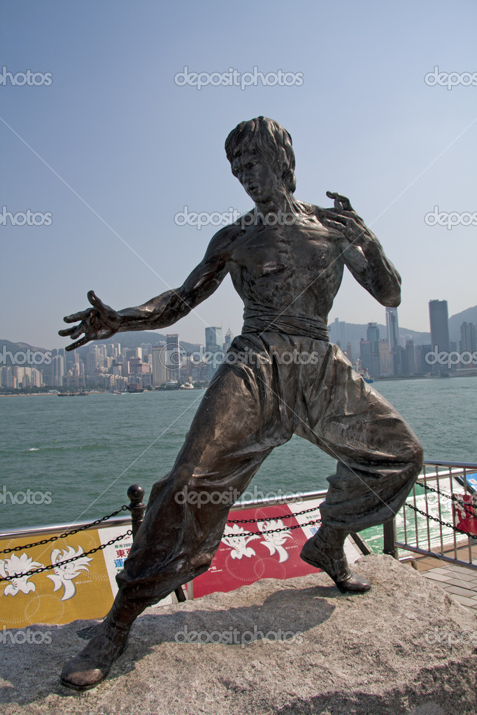 Statue of Bruce Lee, Waterfront, Hong Kong  Stock Photo #8324430