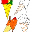 Stock Photo: Coloring - ice cream