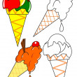 Coloring - ice cream — Foto de stock #8293697