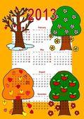Kalender 2013, bäume — Stockfoto