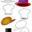 Hats - coloring — Stock Photo