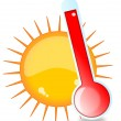 Stock Photo: Sun and thermometer
