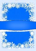 Snowflakes - greeting cards — Stock Photo