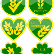Various green icons — Stock Photo