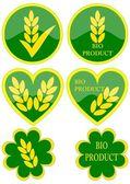 Various green icons — Stock Photo