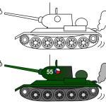 tanque t 34 — Foto de Stock