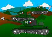 Three tanks — Stock Photo