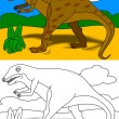 Dinosaur - coloring book - Stock Photo
