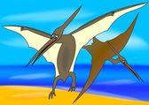 Pteranodon - pájaro prehistórico — Foto de Stock