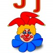 "Letter ""J"" joker — Stock Photo"