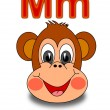 "Stock Photo: Letter ""M"" monkey"