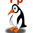 Royalty-Free Stock Photo: Letter P penguin