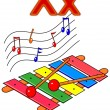 "Letter ""X"" xylophone — Stock Photo"