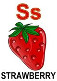 """Letter """"S"""" strawberry — Stock Photo"""