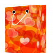 Valentine's Day shopping bag — Stock Photo