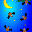 Bats and moon — Stock Photo #9248270