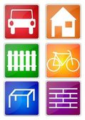 Color icons — Stock Photo