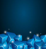Blue Cubes Background — Stock Vector