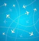 Planes background — Stock Vector