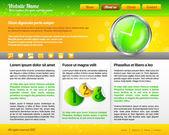 Modern and Fresh Website Template — Stock Vector