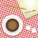 Zeit für Kaffee — Stockvektor