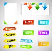 Big Colorful Labels Set — Stock Vector