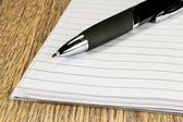 Pen and papers — Stock Photo