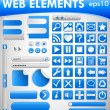 Stock Vector: Web elements set