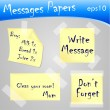 Stock Vector: Messages papers