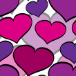 Seamless valentine hearts pattern — Stock Vector