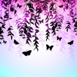 Colorful Butterfly Silhouette Vector Background — Stock Vector
