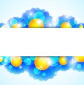 Blue Flower banner — Stock Vector