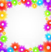 Colorful Flower Border Vector — Stock Vector
