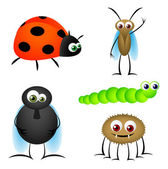 Insect Cartoons — Stock Vector