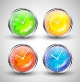 Season Clocks — Stock Vector