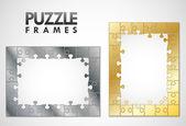 Puzzel frames — Stockvector