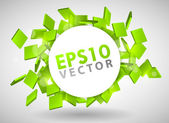 Green Particles — Stock Vector