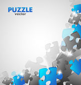 Puzzle Blue Design — Stock Vector