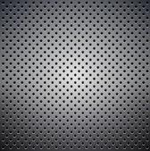 Kovový textury s velkými otvory — Stock vektor
