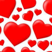 Seamless valentine's hearts pattern — Stockvektor