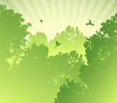Forest silhouette — Stock Vector